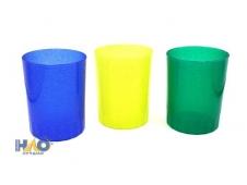 Стакан для ручек, с блестками (СП-2070) 3 цвета, МИКС
