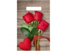 """Пакет полиэтиленовый """"Свежие розы"""" (30см х 20см) н00118189"""
