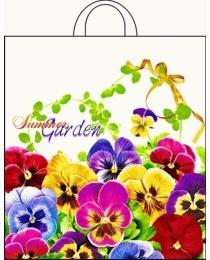 """Пакет полиэтиленовый с петлевой ручкой """"Летний сад"""" (38*42 см) СП-0823"""