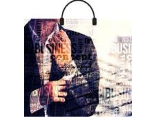 """Пакет полиэтиленовый с пластиковой ручкой """"Мужской характер"""" (38x35) ПЛР43070"""