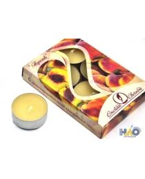 Свеча в гильзе 12 гр. ароматизированная 6 шт./уп. персик * В001802