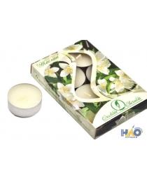 Свеча в гильзе 12 гр. ароматизированная 6 шт./уп. жасмин В001823