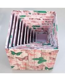 """Коробка/набор 10 шт КУБ  """"Бабочки""""  26,5*26,5 см"""