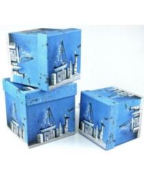 Коробка/набор 3 шт Куб  16*16*16 см