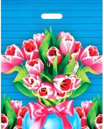 """Пакет полиэтиленовый """"Тюльпаны"""" (36,5смх48см) ПП-9965"""