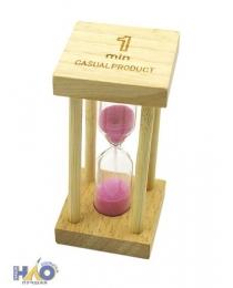 Песочные часы 1 мин деревян основ. KZ-7701