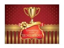 """Лента праздничная шелковая триколор """"Чемпион"""" (1 шт) ЛП-5413"""