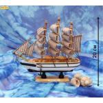"""Сувенирный корабль средний """"Под парусом удачи - 2"""" (20 см) КС-3461"""