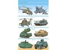 Наклейки (21глит.) НК Военная техника НК-1478