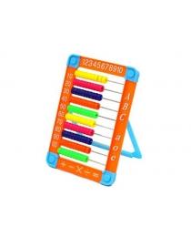 Счёты детские 22*15,5 см. на подставке, пластиковые, цвета в ассортименте
