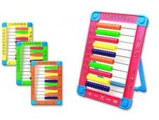 Счёты детские 26*18 см. на подставке, пластиковые, цвета в ассортименте
