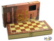 Игра настольная 3 в 1: шахматы, нарды, шашки 24*12*4см, дерево ч19719
