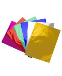 Набор цветной фольгированной бумаги, ф.A4, 6 цв., 6 л.