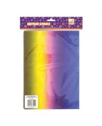 Набор цветного радужного гофрокартона, ф.A4, 5 л.